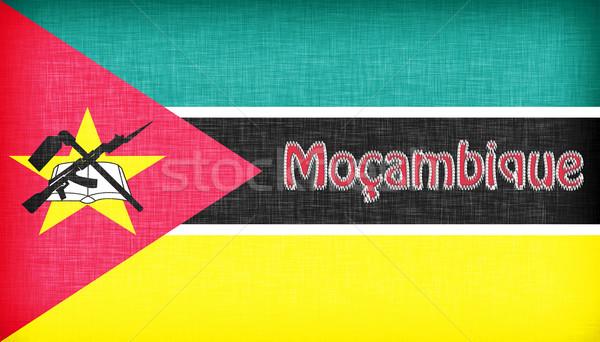 Linen flag of Mozambique Stock photo © michaklootwijk