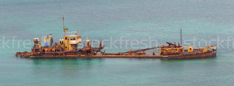Unidentified sunken vessel Stock photo © michaklootwijk