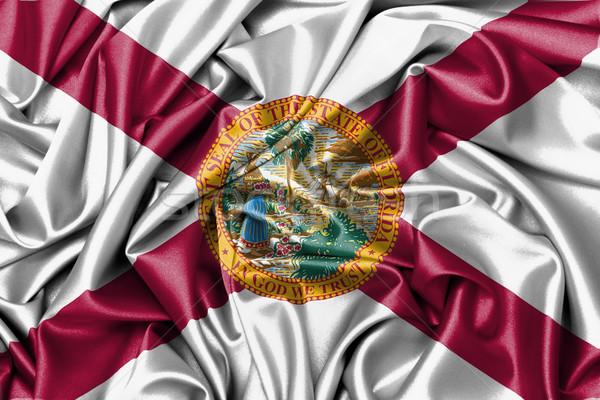 Satijn vlag geven Florida ontwerp Stockfoto © michaklootwijk