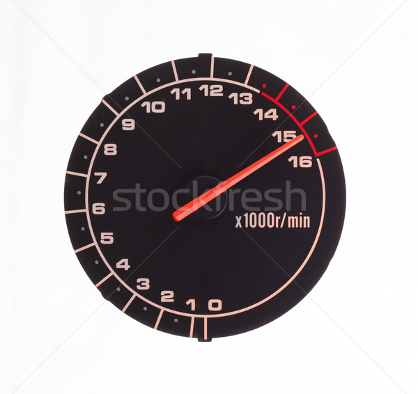 Isolated motor tachometer Stock photo © michaklootwijk