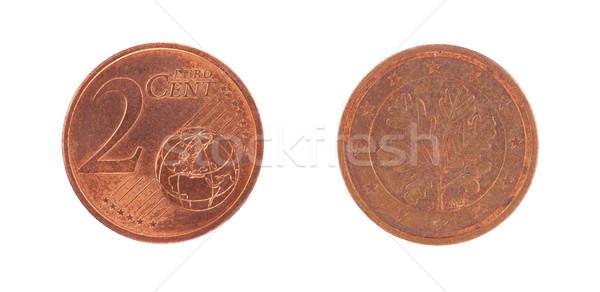ユーロ セント コイン 孤立した 白 ビジネス ストックフォト © michaklootwijk
