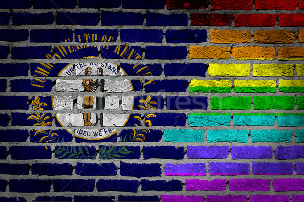 Dark brick wall - LGBT rights - Kentucky Stock photo © michaklootwijk
