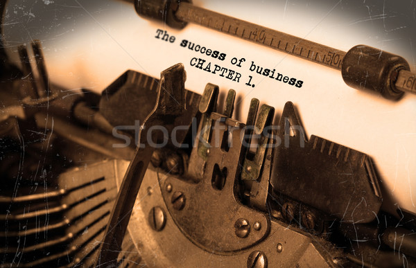 Stock photo: Old typewriter with paper