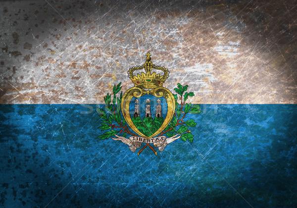 Oude roestige metaal teken vlag San Marino Stockfoto © michaklootwijk