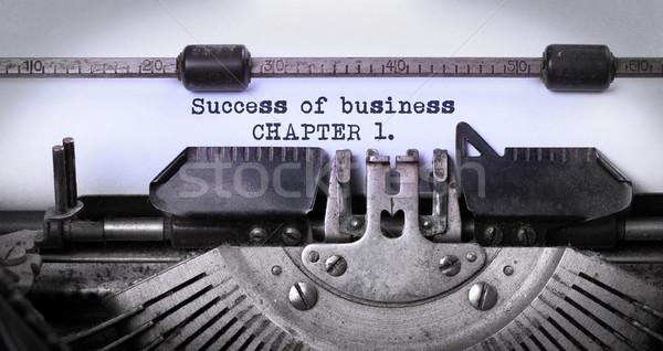 ストックフォト: ヴィンテージ · 碑文 · 古い · タイプライター · 成功 · ビジネス