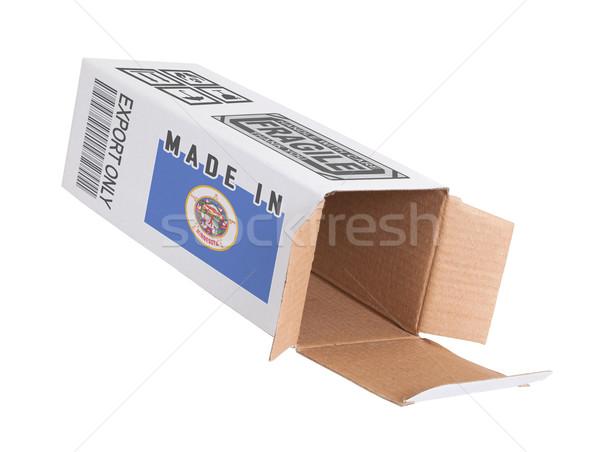 Exporter produit Minnesota papier boîte Photo stock © michaklootwijk