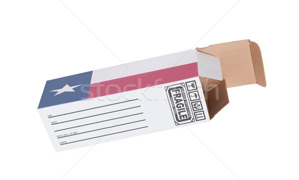 エクスポート 製品 テキサス州 紙 ボックス ストックフォト © michaklootwijk