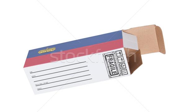 Concept of export - Product of Lichtenstein Stock photo © michaklootwijk