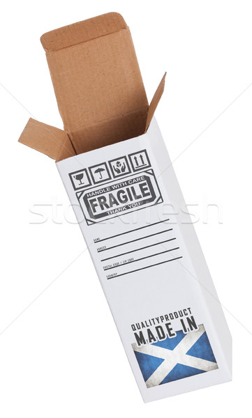 Exportar produto escócia papel caixa Foto stock © michaklootwijk