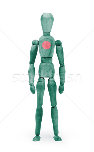 Wood figure mannequin with flag bodypaint - Bangladesh Stock photo © michaklootwijk