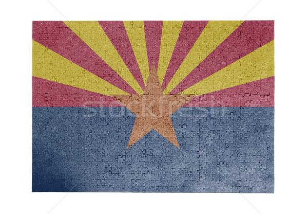 Nagy kirakós játék 1000 darabok Arizona zászló Stock fotó © michaklootwijk