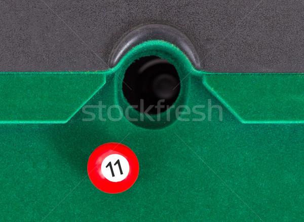Piros snooker labda szám ősz fa Stock fotó © michaklootwijk