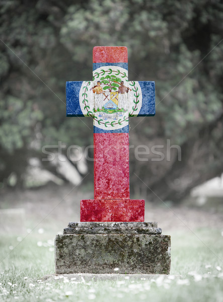 Gravestone in the cemetery - Belize Stock photo © michaklootwijk