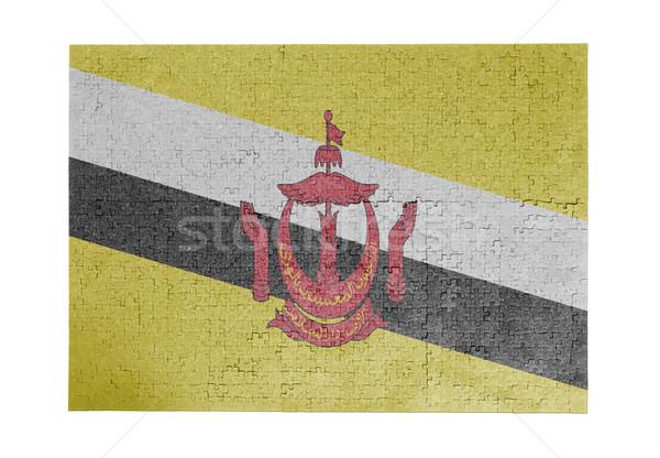 большой 1000 частей Бруней флаг Сток-фото © michaklootwijk