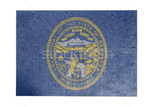 1000 pezzi Nebraska bandiera Foto d'archivio © michaklootwijk