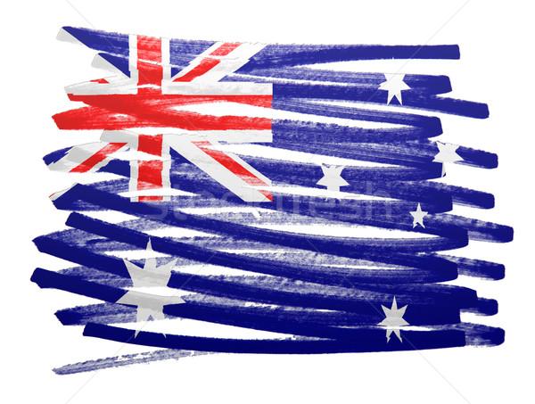 Bayrak örnek Avustralya Kalem Iş Boya Stok Fotoğraf