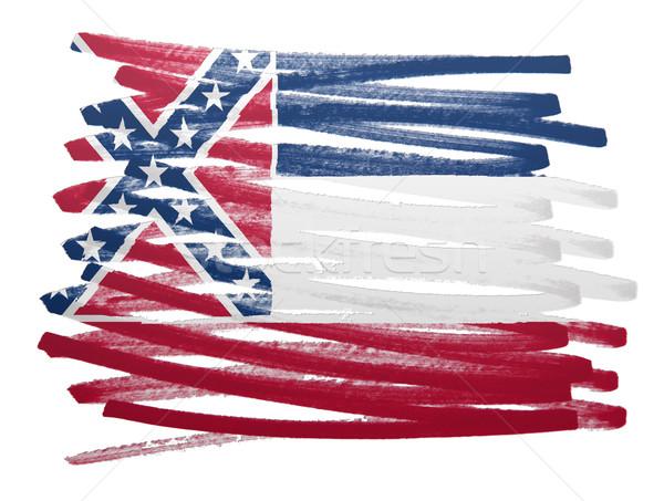 Bayrak örnek Mississipi kalem iş boya Stok fotoğraf © michaklootwijk