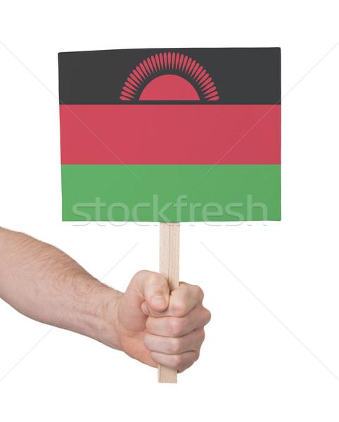 Hand klein kaart vlag Malawi Stockfoto © michaklootwijk