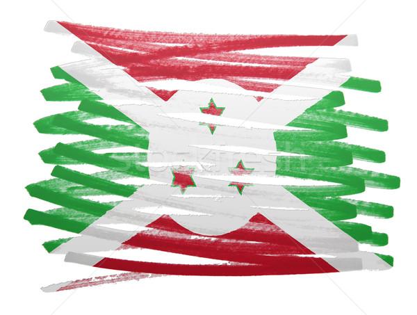 Bandeira ilustração Burundi caneta negócio pintar Foto stock © michaklootwijk