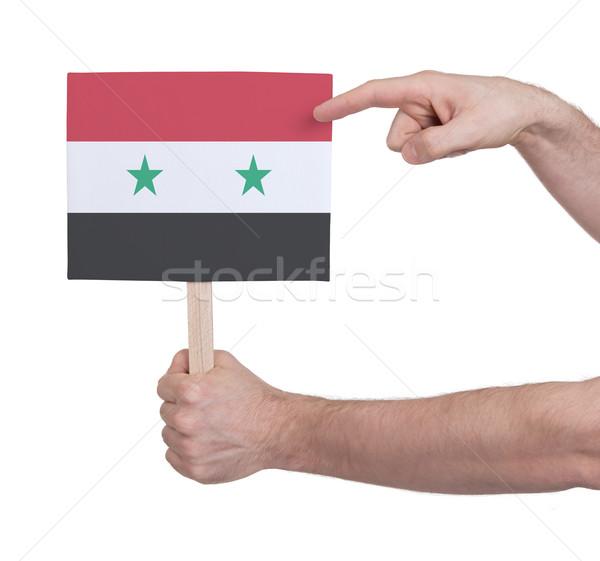 Hand klein kaart vlag Syrië Stockfoto © michaklootwijk