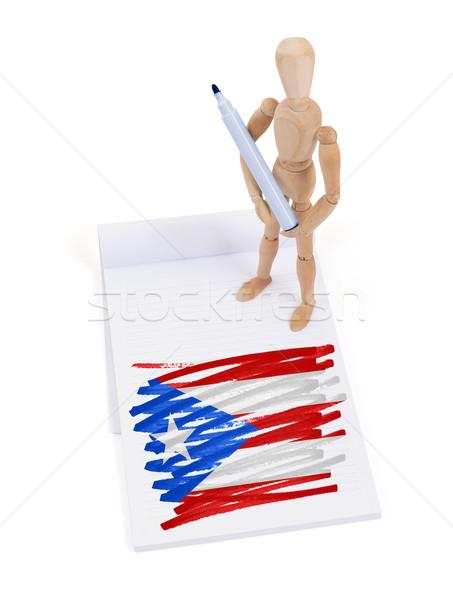 Manequim desenho Porto Rico bandeira papel Foto stock © michaklootwijk