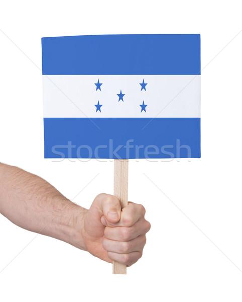 Mano piccolo carta bandiera Honduras Foto d'archivio © michaklootwijk
