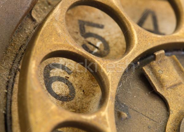 Vintage téléphone composer sale bureau Photo stock © michaklootwijk