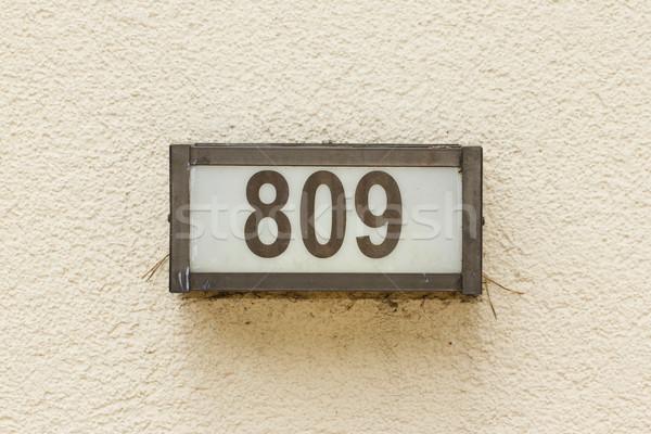 числа выстрел текстуры металл кадр Сток-фото © michaklootwijk