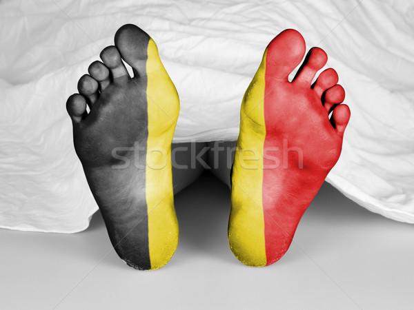 Lijk witte vel vlag België vrouw Stockfoto © michaklootwijk