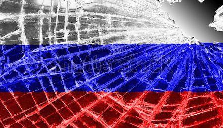 割れたガラス 氷 フラグ アルメニア 孤立した ガラス ストックフォト © michaklootwijk