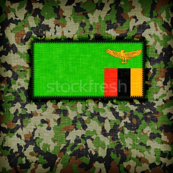 üniforma Zambiya bayrak doku soyut Stok fotoğraf © michaklootwijk
