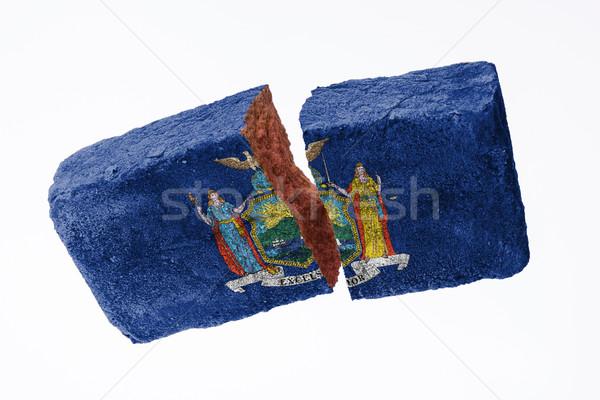 Rough broken brick Stock photo © michaklootwijk
