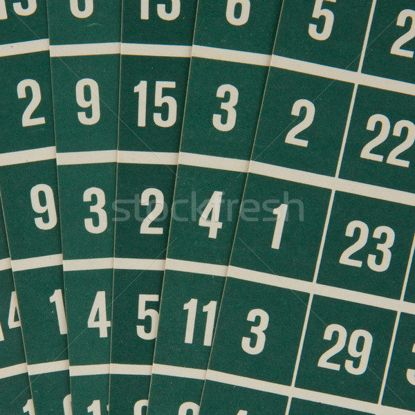 зеленый бинго карт цвета Сток-фото © michaklootwijk