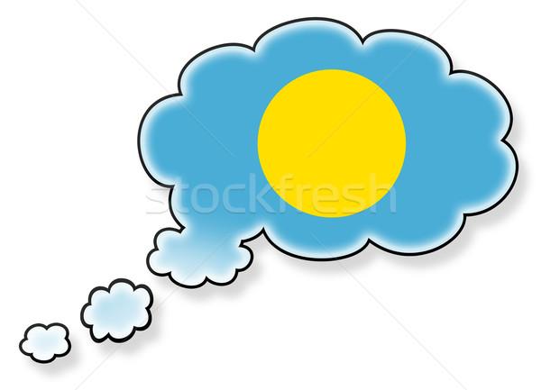 フラグ 雲 孤立した 白 パラオ 芸術 ストックフォト © michaklootwijk