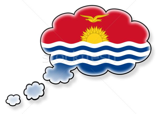 Vlag wolk geïsoleerd witte Kiribati kunst Stockfoto © michaklootwijk