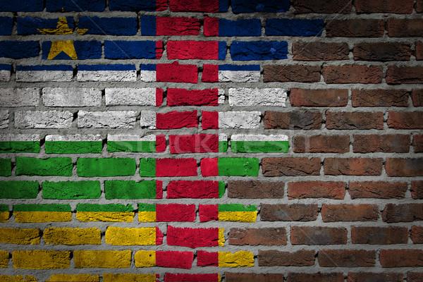 Buio muro di mattoni centrale african repubblica texture Foto d'archivio © michaklootwijk
