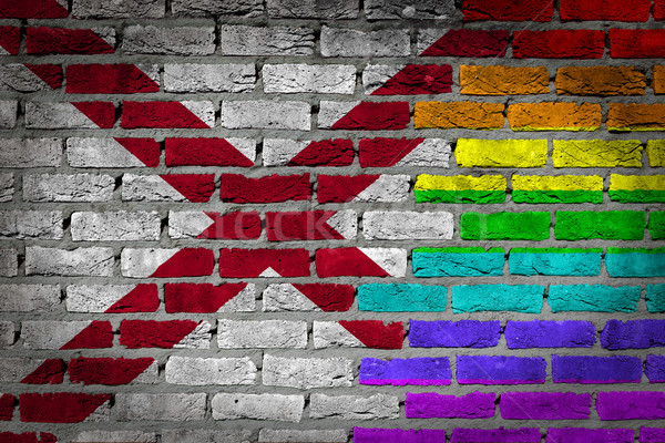 Dark brick wall - LGBT rights - Alabama Stock photo © michaklootwijk