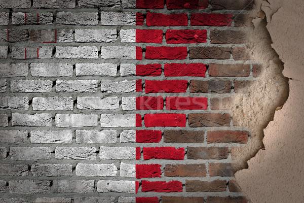 Donkere muur gips Malta textuur vlag Stockfoto © michaklootwijk