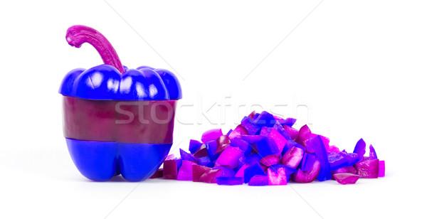 Neon colored pepper Stock photo © michaklootwijk