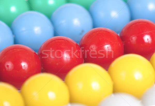 Close up of an old colorful abacus, selective focus Stock photo © michaklootwijk