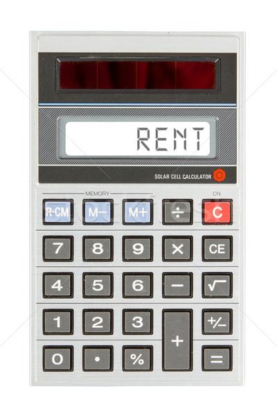 Vecchio mutui affitto testo display Foto d'archivio © michaklootwijk