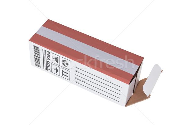 Exporter produit Autriche papier boîte Photo stock © michaklootwijk