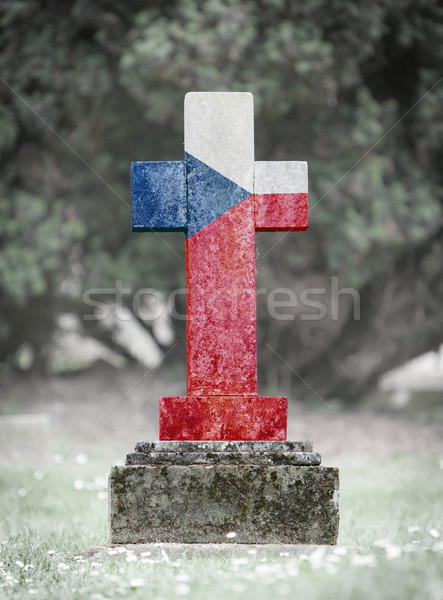 Gravestone in the cemetery - Czech Republic Stock photo © michaklootwijk