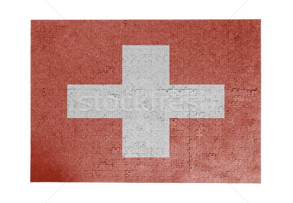 Groot 1000 stukken Zwitserland vlag Stockfoto © michaklootwijk
