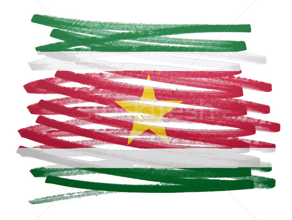 флаг иллюстрация Суринам пер бизнеса краской Сток-фото © michaklootwijk