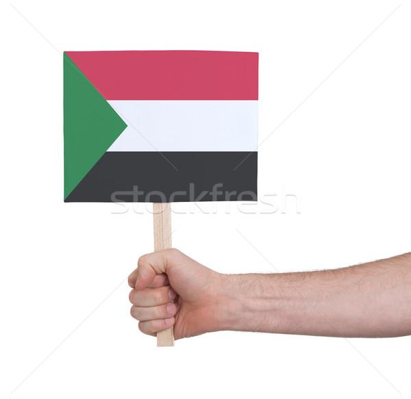 Strony mały karty banderą Sudan Zdjęcia stock © michaklootwijk