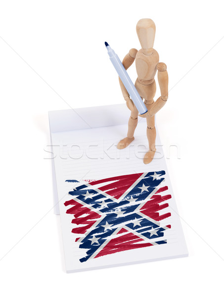 Wooden mannequin made a drawing - Confederation Flag Stock photo © michaklootwijk