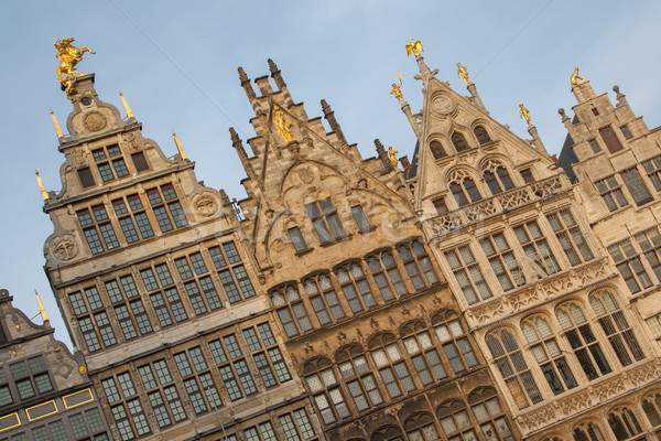 Ancient guild houses situated on the central square in Antwerp Stock photo © michaklootwijk