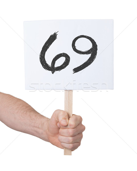 Sign with a number, 69 Stock photo © michaklootwijk