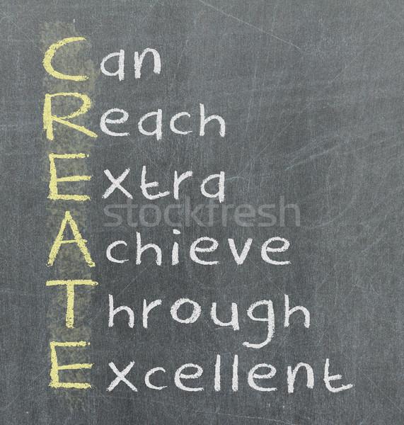 Create meaning written on blackboard Stock photo © michaklootwijk